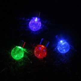Glass Globe Solar Powerd Light Hanging Colorful Solar Lamp Glass Ball Light for Courtyard Lawn Garden