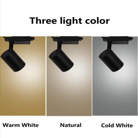 1pcs COB 10W 20W 30W Led Track light aluminum Ceiling Rail Track lighting Spot Rail Spotlights Replace Halogen Lamps