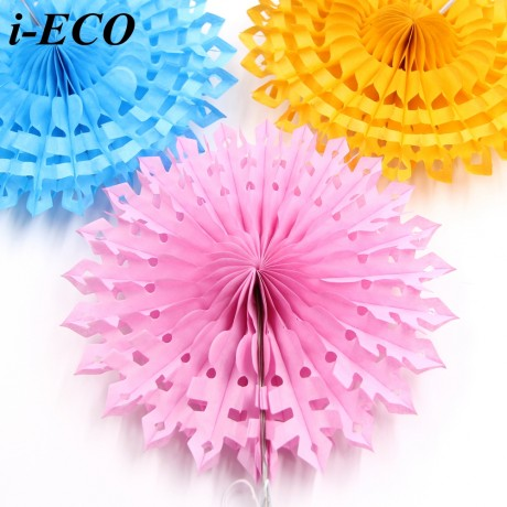 """1PC 12"""" Hollow Tissue Paper Fans Hanging Paper Flowers DIY Home Garden/Kids Birthday/Wedding Party Decoration Baby Shower Favors"""