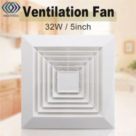 1Pcs White 32W 220V Ventilation Extractor Exhaust Fan Blower Window Wall Kitchen Bathroom Toilet Fan Hole Size 160x160mm US Plug