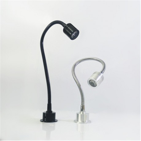 1W/3W led Flexible tube cabinet spot lamp ,85-265Vac led wall lamp, counter light ,30/40/50 cm tube led exhibition lamp