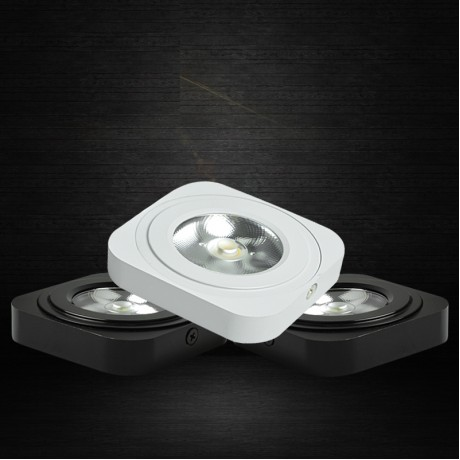 5W Ultrathin Square free drive COB Led Panel Light Surface Mounted Downlight lighting Led ceiling down 110V/220V Black White