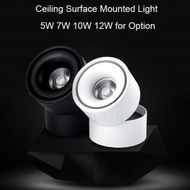 7W 10W 12W surface mounted ceiling spotlight 110-240V rail spotlight warm white for clothes shoes shop lighting