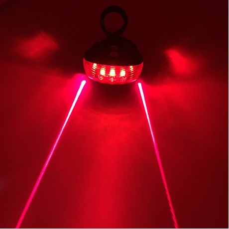Bicycle LED Light 2 Lasers Night Mountain Bike Tail Light Taillight MTB Safety Warning Bicycle Rear Light Lamp Bycicle Light