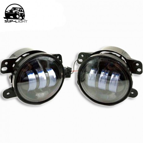 ( 2 pieces/set) 12v 4 inch 30W led fog lamp Off road car light for Jeep Wrangler led foglight