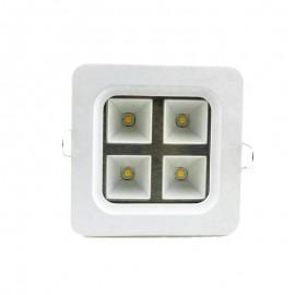 AC85~265V 4W Square White shell LED grille light,LED kitchen light Led Recessed Grid Lighting