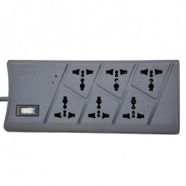 TOWE AP-1026S surge protection 6 ways GB2099.3 universal 2meters ON/OFF switch surge protector