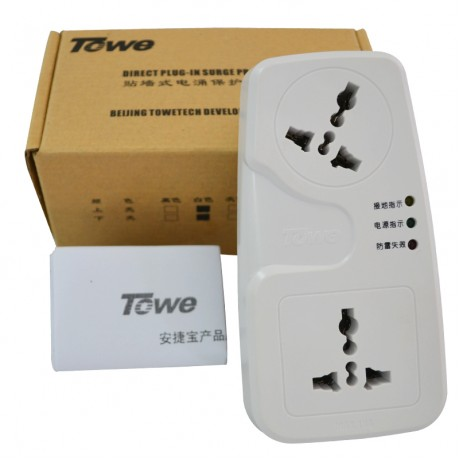 TOWE AP-1012S professional surge protection socket one to two converter 10kA surge protection