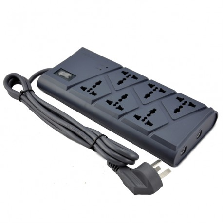 TOWE AP-1026TS surge protection 6 ways GB2099.3 universal 2meters ON/OFF switch surge protector