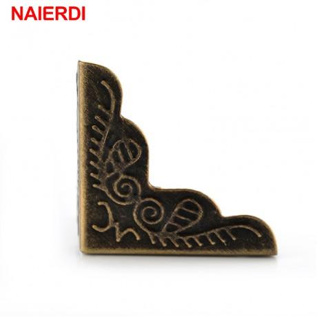 30PCS NAIERDI 3.6x2.4cm Luggage Case Box Corners Brackets Decorative Corner For Furniture Decorative Triangle Rattan Carved