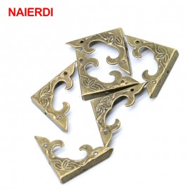 10PCS NAIERDI 30mm x 30mm Book Scrapbooking Albums Corner Bracket Antique Decorative Protectors Crafts For Furniture Hardware