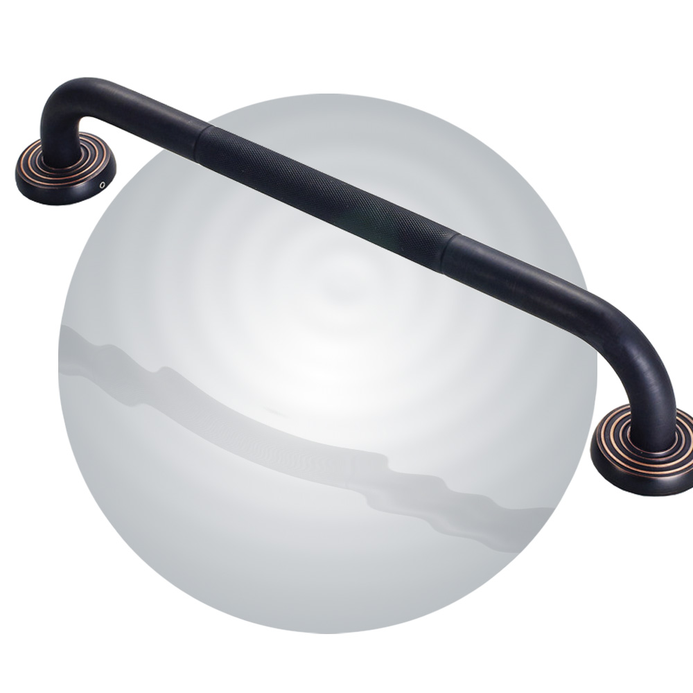 Bathroom Grab Bar, Oil Rubbed Bronze / Black, fs45dh03, solid brass