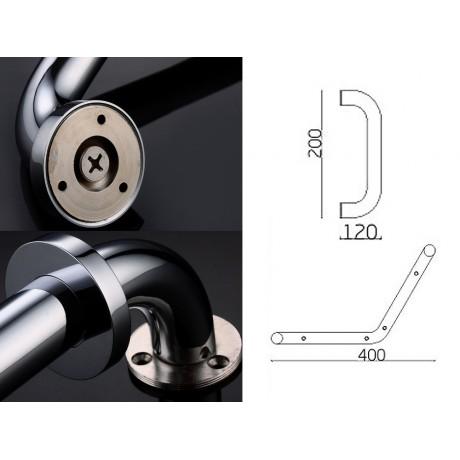 Concealed Screws Elegant Arc Brass Grab Bar Door Handle Handrail Bathroom Accessory Home Care For Elderly