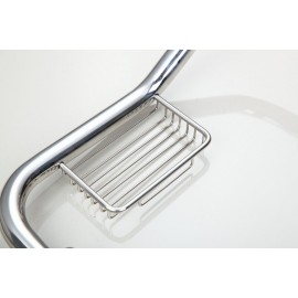 MONITE New Free Stainless Steel 6309 Bathtub Handrails Bathroom Safety Grab Bar Shower Chrome Hand Rail With Soap Dish Holder