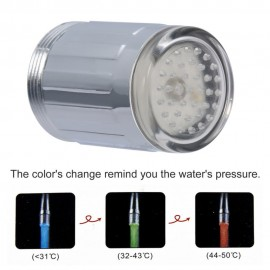 Water Glow Automatically 3 Colors Changing LED Light Kitchen Bathroom Faucet Temperature Control TE shower Head