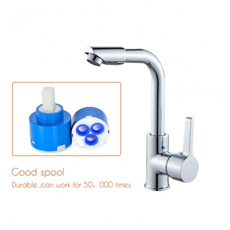 fiE Bathroom Faucets Mixer 360 Degree Swivel Easy Wash for Basin Sink and Kitchen Faucet