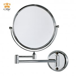 "CRW Bathroom Mirror Modern 8"" Wall Mounted Make Up Mirror Magnifying Dual Arm Extend Shaving Mirror 2-Face MR15492"
