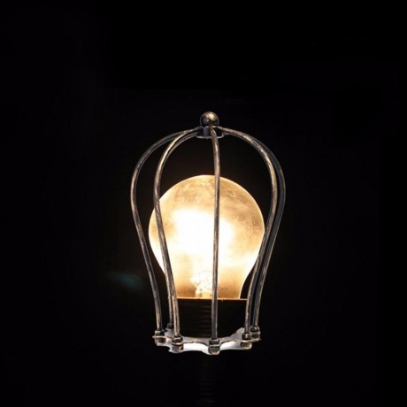 Vintage Iron Wire Bulb Cage Lampshades Hanging Lamp Holder Guard Shade Industrial Home Light Decoration