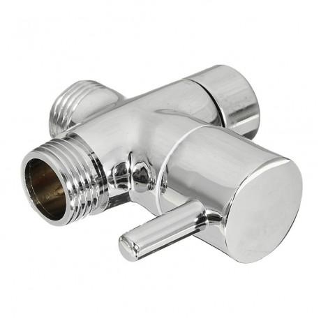 Brass 3-Ways Shower Head Diverter Valve Bathroom Toilet Sprayer Faucet T-adapter For Bathroom Accessories