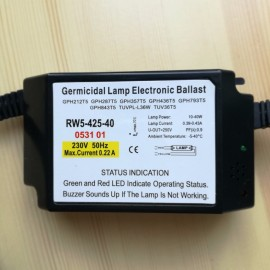 EU Standard Germicidal Lamp Electronic Ballasts UV Ballast with Buzzer Sounds Alarm Function IP60 RW5-425-40 CE certificate