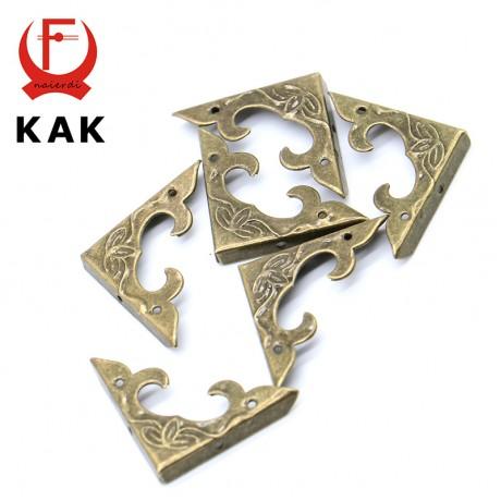 10PCS KAK 30mm x 30mm Book Scrapbooking Albums Corner Bracket Antique Brass Decorative Protectors Crafts For Furniture Hardware