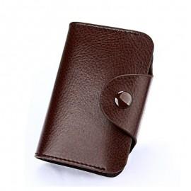 Westcreek Brand Vintage Large Capacity Men Cardholder Split Leather Business Women Credit Card Holder Buckle Card id Holders