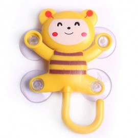 Cartoon Animal Shape Clothes Towel Item Holder Suction Cap Hanger
