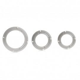Aluminium Rotating Turntable Bearing Swivel Plate 10 Inch Silver