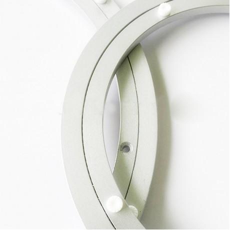 Aluminium Rotating Turntable Bearing Swivel Plate 14 Inch Silver