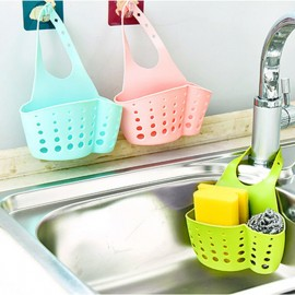 Kitchen Hanging Drain Bag Basket Bath Storage Gadget Tool Sink Holder Bathroom Soap Hanging Shelving Water Faucet Laundry Basket