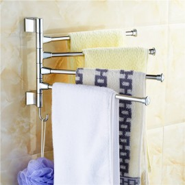 Wall-mounted Towel Rack Steel Bathroom Kitchen Rotating Towel Cloth Polished Rack Holder Hanger Prateleiral Hardware Accessory