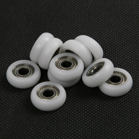 10PCS/Set Model 695ZZ Rubber POM material Bearings Sliding Wardrobe Door Rollers Inner diameter 5mm Rustproof Corrosion Bearings