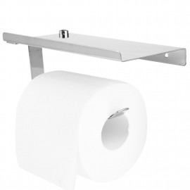 DSHA Hot Stainless steel 304 bathroom paper phone holder with shelf bathroom Mobile phones towel rack toilet paper holder tiss