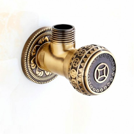 """High Quality Antique Brass and Gold 1/2"""" Malex Bathroom Angle Stop Valve Faucet Filling Valves"""