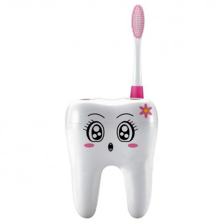 Cartoon Toothbrush Holder Novelty 4 Hole Toothbrush Bracket Container Stand Tooth Brush Shelf Bathroom Products