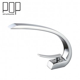 POP brand new design water tap brass contemporary basin faucet with Hot and Cold Water Chrome Finish Basin Mixer Tap