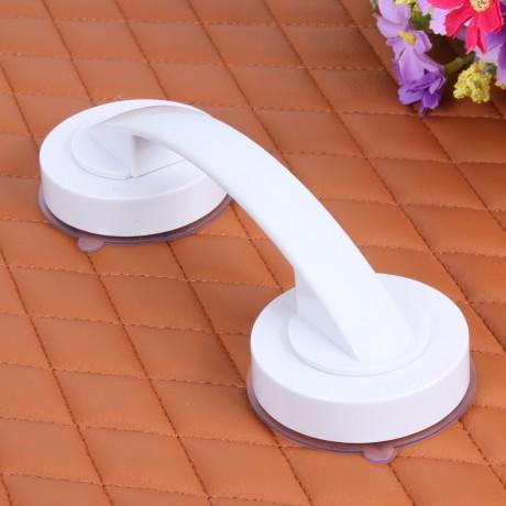 White Vacuum Sucker Suction Cup Handrail Bathroom Super Grip Safety Grab Bar Handle with for Glass Door Bathroom Elder Hardware
