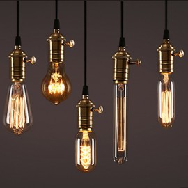 Edison Bulb Dimmable E27 220V 40W ST64 A19 T45 G80 G95 G125 Incandescent filament bulb lighting Retro Edison Light Bulb