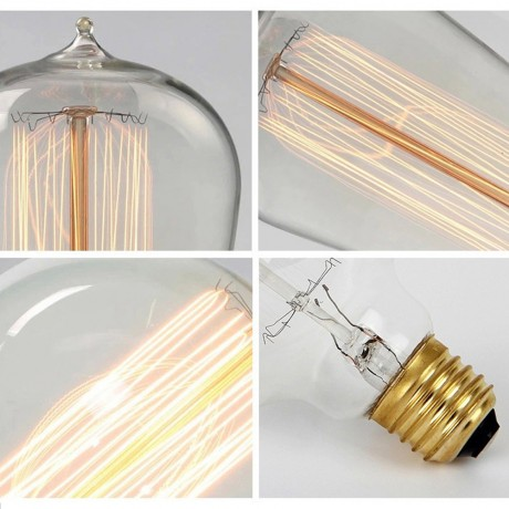 E27 220V Edison Lamp Bulbs Vintage Retro Pendant Lamps Bombilla Illumination Filament Bulb 40w Holiday lampada for home decor