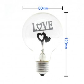 NEW Incandescent Vintage Bulb 3W 220V Retro Edison Art Decoration E27 3W Edison Bulbs I Love You Shaped Decorative Light Bulb