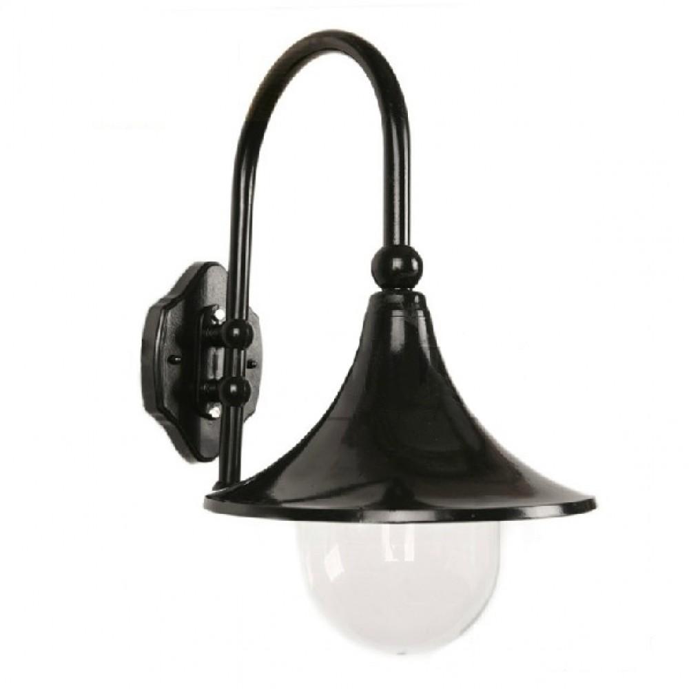 American vintage horn outdoor waterproof E27 LED bulb acrylic wall lamp European retro balcony black aunimun wall lights fixture