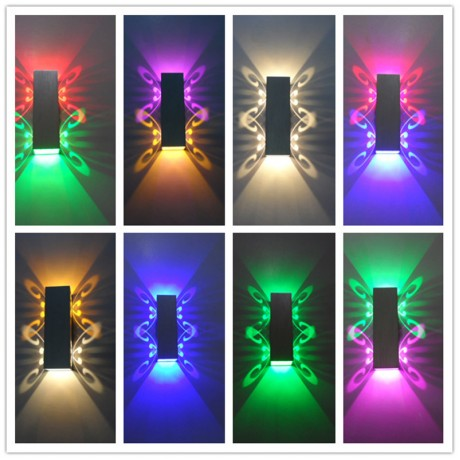 SXZM Aluminum led light  fixture Up and down led wall lamp 2W batteryfly modern fashion wall light indoor