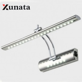 LED Mirror Front Light 7W 5W SMD 5050 3014 bathroom modern pouplar Bath Wall Lamp Stainless Steel White/warm white