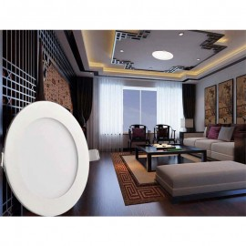 Ultra thin design LED Panel Light 3W / 6W / 9W / 12W / 15W /18W recessed grid downlight / slim round LED panel light