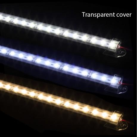 10pcs*50cm DC12V 5730 LED Hard Strip LED Bar Light 5730 5630 with U Aluminium shell +pc cover