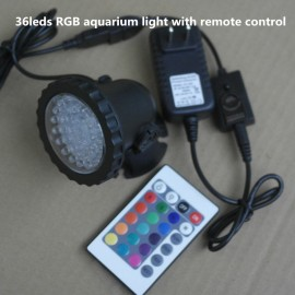 36leds RGB Waterproof IP68 fountain pool Lamp 3.5W Aquarium Fish tank Light for Swimming Pool Pond Light  with remote control