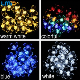 LMID Solar Lamps Flower Blossom Decorative Lights Waterproof White Fairy Garden Outdoor Christmas Solar Led Light
