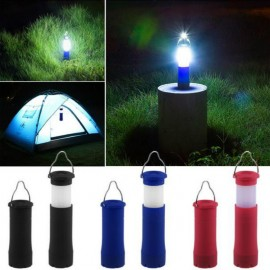 Adjustable Outdoor LED Waterproof  2 In 1 Tent Camping Lantern Light Hiking LED Flashlight Torch Outdoor Lamp