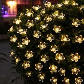 Solar Power Fairy String Lights 7M 50 LED LederTEK Peach Blossom Decorative Garden Lawn Patio Christmas Trees Wedding Party