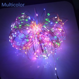 SPLEVISI High Quanlity 20M 200 Leds Copper Wire LED String Light Starry Lights Garland Las luces navidenas +  Power Adapter